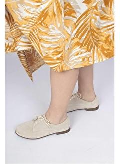 Modabuymus Modabuymus Kadın Hakiki Deri Yumuşak Oxford Süet Ayakkabı - Betis